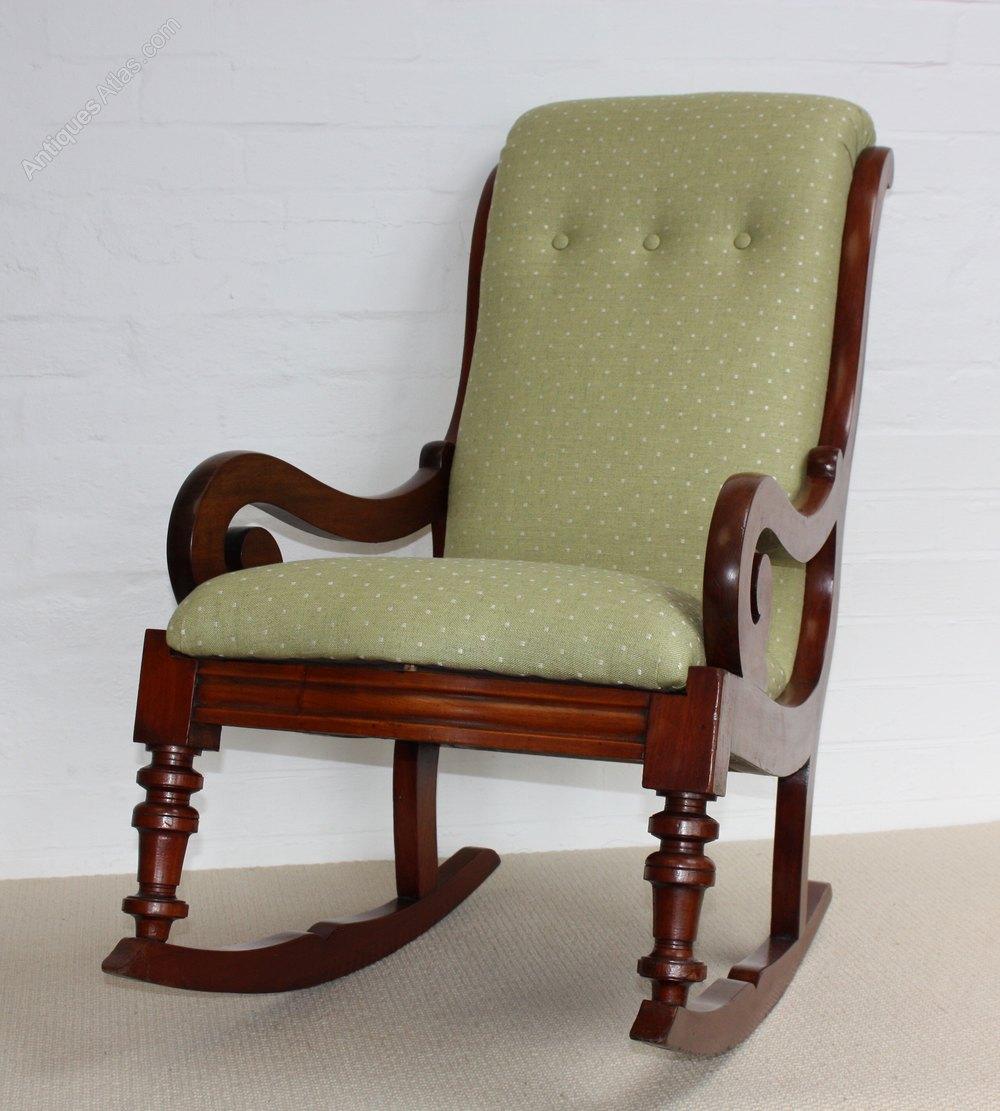 A Victorian Mahogany Rocking Chair